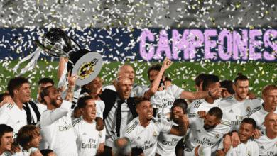 """صورة صور تتويج ريال مدريد بلقب الدوري الاسباني 2020/2019 """"زيدان يُحمل على الأعناق"""""""