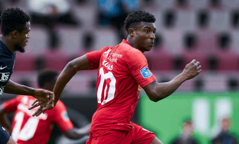 المهاجم الغاني محمد قدوس لاعب نوريشلاند الدنماركي ينتقل الى أياكس الهولندي