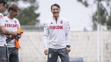 نيكو كوفاتش في تدريبات موناكو الفرنسي بعد تولي تدريبه خلال الميركاتو الصيفي 2020