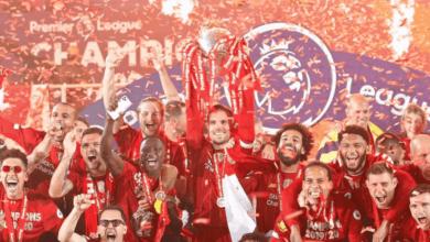 هندرسون ومحمد صلاح في احتفالات ليفربول بلقب الدوري الانجليزي 2020 - صور Getty