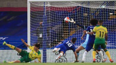 صورة أهداف مباراة تشيلسي ونوريتش سيتي في الدوري الانجليزي