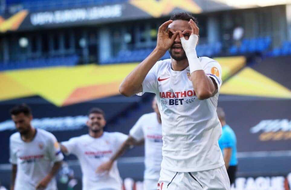 النجم المغربي يوسف النصيري - نتيجة مباراة روما وإشبيلية في الدوري الأوروبي (صور:AFP)