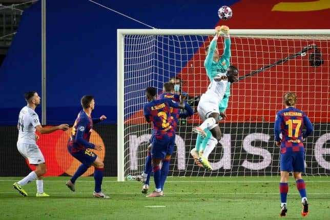 نتيجة مباراة برشلونة ونابولي فى دوري أبطال أوروبا (صور:AFP)