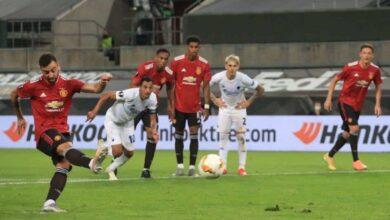 برونو فيرنانديز - أهداف مباراة مانشستر يونايتد وكوبنهاجن فى الدوري الأوروبي (صور:AFP)