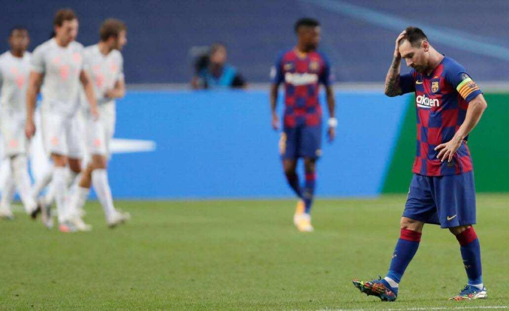 نتيجة مباراة برشلونة وبايرن ميونخ فى دوري أبطال أوروبا (صور:AFP)
