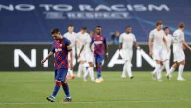 """صورة بايرن ميونخ يصدم العالم و """"يهتك عرض"""" برشلونة بثمانية مع الرأفة!"""