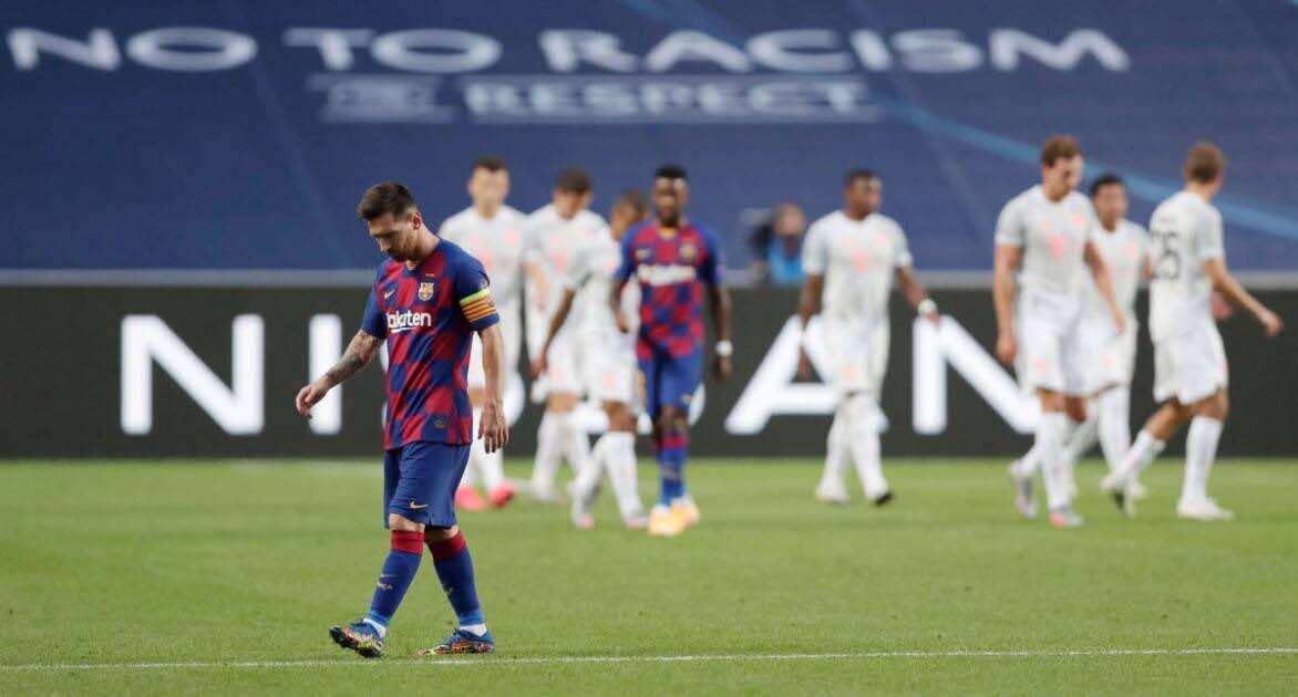 """بايرن ميونخ يصدم العالم و """"يهتك عرض"""" برشلونة بثمانية مع الرأفة (صور:AFP)"""