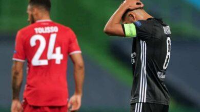 حسام عوار - مباراة بايرن وليون فى دوري الابطال (صور:AFP)