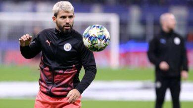 صورة أجويرو يخشى الغياب عن مانشستر سيتي في دوري أبطال أوروبا