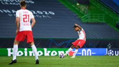 """صورة صور مباراة أتلتيكو مدريد ولايبزيج في دوري أبطال أوروبا """"ضربة أدامز تقود الثيران إلى نصف النهائي"""""""