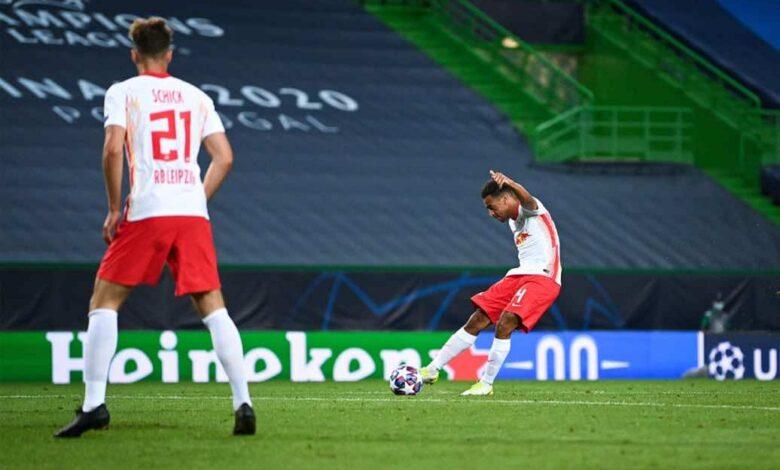 """صور مباراة أتلتيكو مدريد ولايبزيج في دوري أبطال أوروبا """"ضربة أدامز تقود الثيران إلى نصف النهائي"""""""