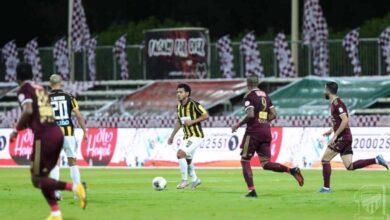 """صورة ملخص مباراة الاتحاد والفيصلي في الدوري السعودي """"تعادل مخيب للعميد"""""""