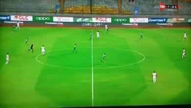 مباراة الزمالك والمصري في الدوري المصري (twitter)