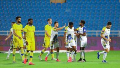 مباراة النصر والتعاون في الدوري السعودي (صور:twitter)
