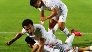 فرحة لاعبي الزمالك بالفوز على الاهلي فى الدوري المصري (صور:twitter)