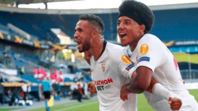 يوسف النصيري يُبدع مع اشبيلية امام روما ويقود الفريق للتأهل إلى ربع نهائي الدوري الأوروبي 2020 - صور AFP