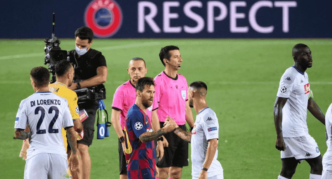 ميسي بعد مباراة برشلونة ونابولي في دوري ابطال اوروبا