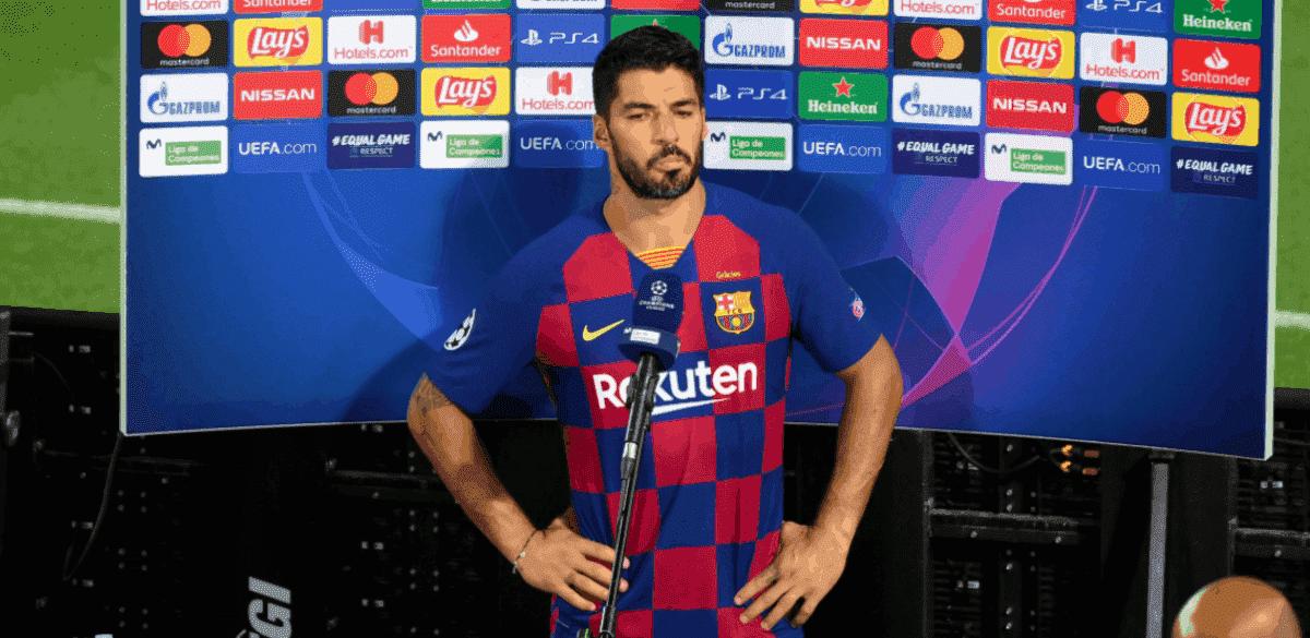 لويس سواريز بعد مباراة برشلونة ونابولي