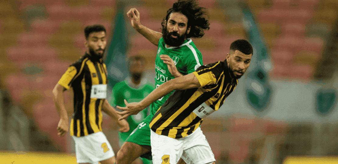 حسين عبد الغني في ديربي جدة بين الاهلي والاتحاد بمنافسات الدوري السعودي