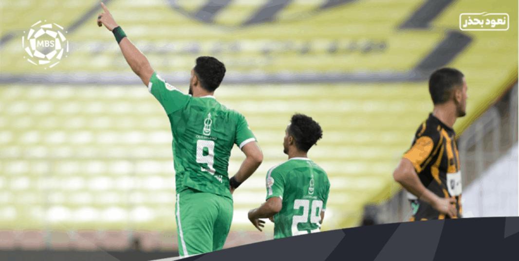 فرحة مهاجم الأهلي عمر السومة بهدفيه أمام الاتحاد في ديربي جدة