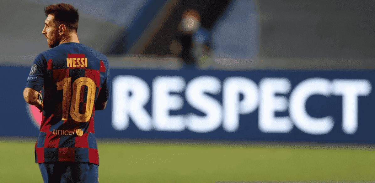 ليونيل ميسي في مباراة برشلونة وبايرن ميونخ 8-2