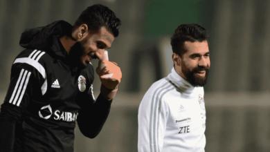 أحمد الشناوي وعبد الله السعيد في تدريبات منتخب مصر