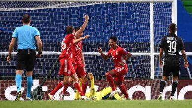 أهداف مباراة بايرن ميونخ وليون في دوري أبطال أوروبا (صور:AFP)