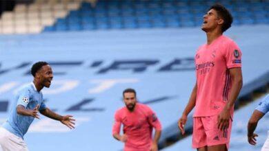 """ملخص مباراة ريال مدريد ومانشستر سيتي """"فاران يطرد الريال من دوري أبطال أوروبا"""""""