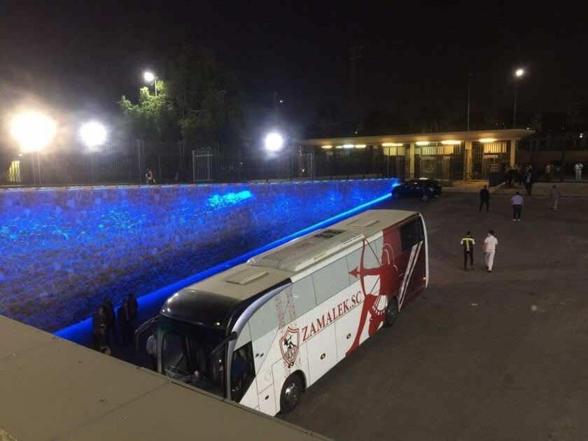 صور مباراة الاهلي والزمالك - وصول فريقي الاهلي والزمالك إلى استاد القاهرة
