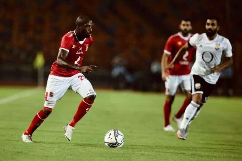 جيرالدو في مباراة الاهلي والجونة في الدوري المصري