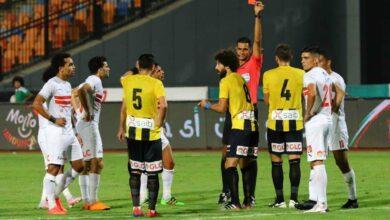 طرد فادي نجاح في مباراة المقاولون العرب والزمالك