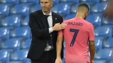 صورة ريال مدريد يستعد هازارد حسب تأكيد زيدان