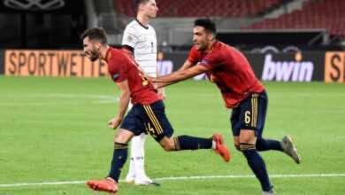 غايا ينقذ إسبانيا من الخسارة أمام الألمان فى افتتاح دوري الأمم الاوروبية (صور:AFP)