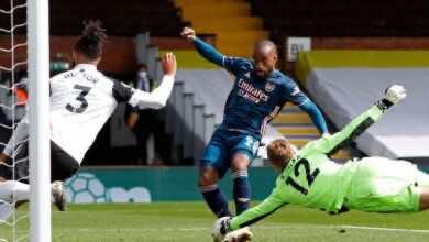 صورة فيديو أهداف ارسنال وفولهام في الدوري الانجليزي