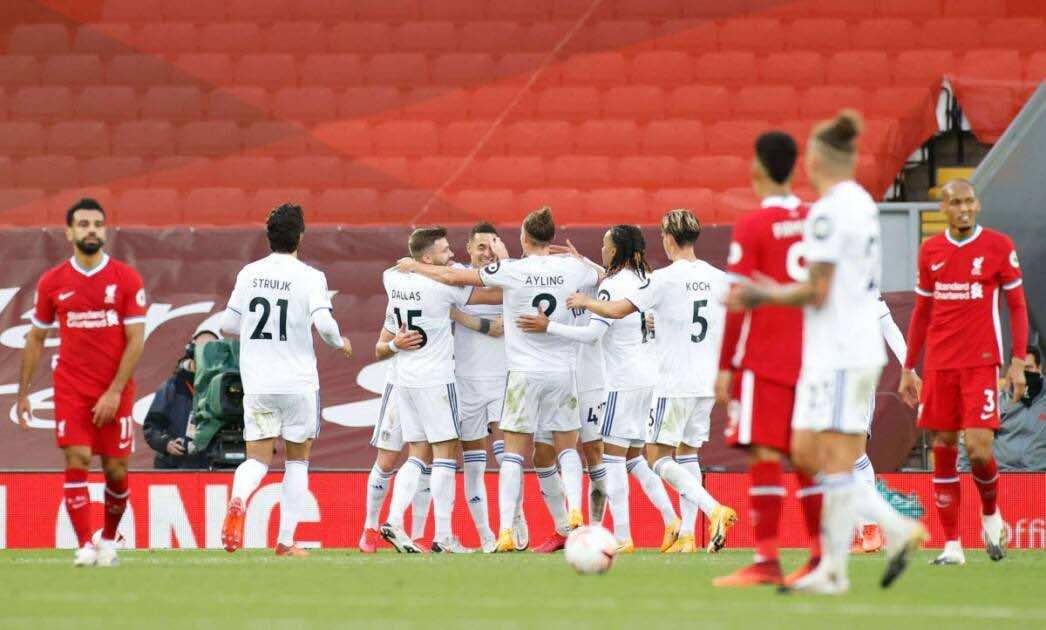 مباراة ليفربول وليدز يونايتد في الدوري الانجليزي (صور:AFP)