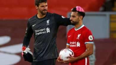 هاتريك صلاح ينقذ ليفربول من تعادل مخيب مع ليدز في افتتاح البريميرليج (صور:AFP)