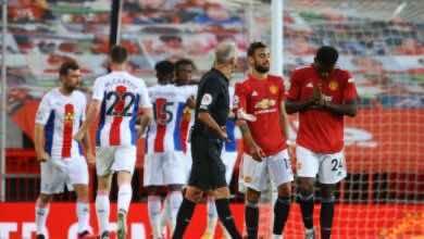 صورة كريستال يباغت مانشستر يونايتد في اولد ترافورد ويهزمه بثلاثية في الدوري الانجليزي