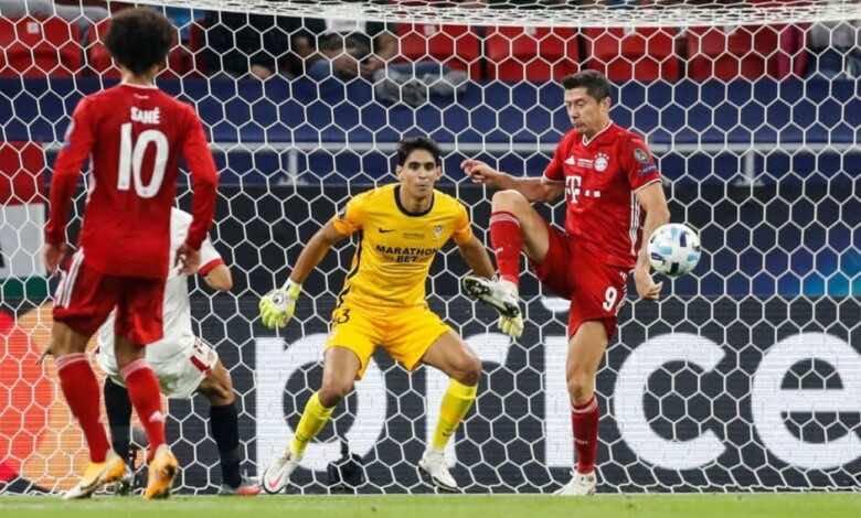 أهداف بايرن ميونخ واشبيلية في كأس السوبر الأوروبي (صور:AFP)