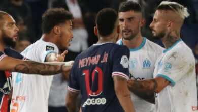 صورة نيمار يدعي تعرضه لإساءات عنصرية من قبل لاعب مرسيليا