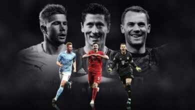 صورة لاعبان من بايرن ميونخ ونجم مانشستر سيتي في القائمة النهائية لأفضل لاعب في أوروبا
