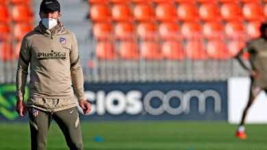 سيميوني يتعافى ويقود تدريبات أتلتيكو مدريد قبل مواجهة غرناطة في الدوري الإسباني
