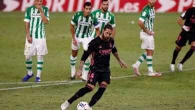 """صورة ملخص مباراة ريال مدريد وريال بيتيس في الدوري الإسباني """"الفار يُنصف زيدان"""""""