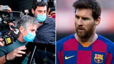 صورة والد ميسي يؤكد صعوبة استمرار نجله مع برشلونة