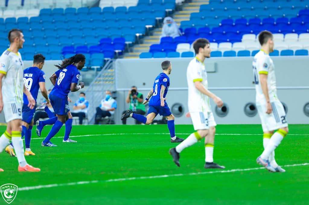 صور مباراة الهلال وباختاكور - احتفال جيوفينكو بالهدف