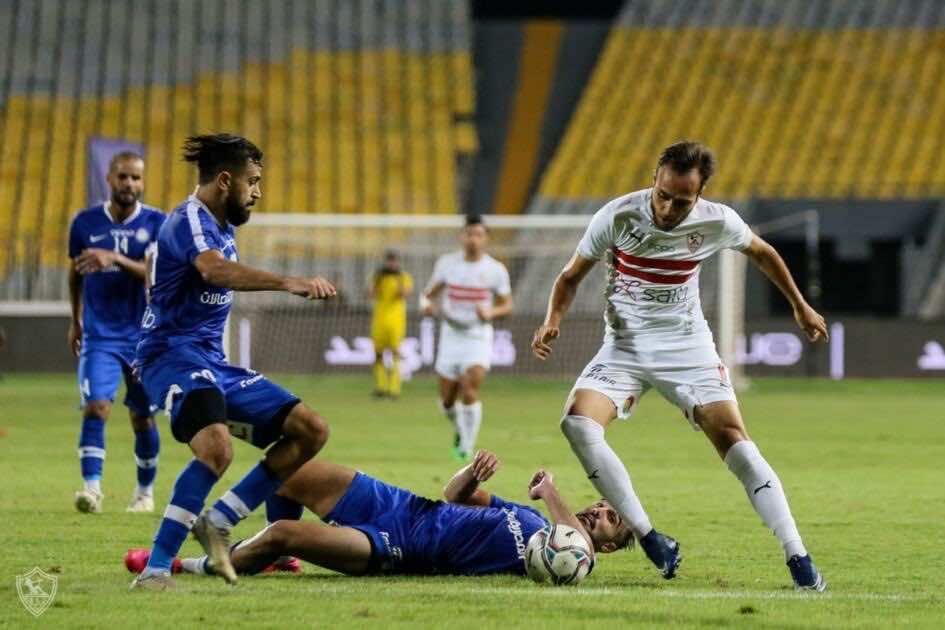 صور مباراة مباراة الزمالك وسموحة - محمد عنتر