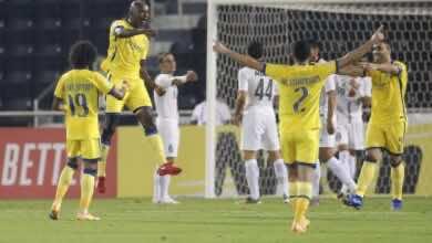 صورة النصر يعاقب سباهان على الفرص المهدرة ويهزمه بثنائية ويحسم تأهل لاقصائيات دوري الابطال