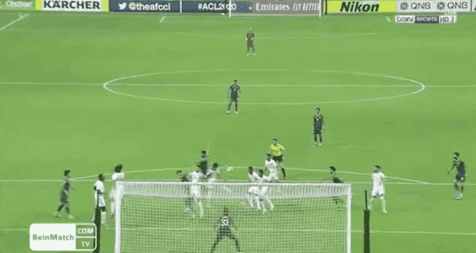 سعود ناطق يسجل هدف في مباراة الشرطة العراقي واهلي جدة السعودي - TV