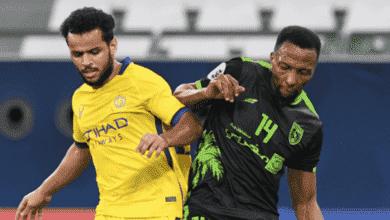 عبد الفتاح عسيري في مباراة النصر والتعاون في دوري ابطال اسيا 2020