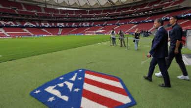 كريستيانو رونالدو في ملعب أتلتيكو مدريد واندا متروبولیتانو (صور: Getty)