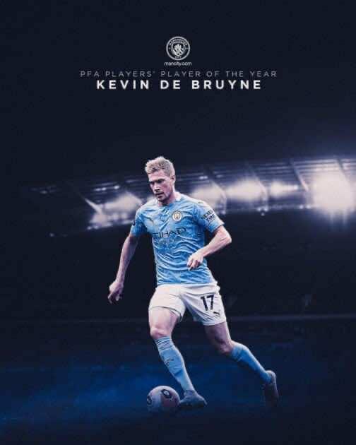 كيفين دي بروينه أفضل لاعب في الدوري الانجليزي من رابطة اللاعبين المحترفين